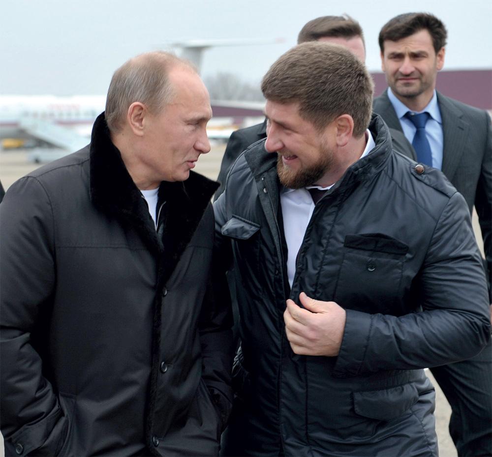 Президент РФ Вадя Путин да коновод Чеченской республики Рамзан Кадыров