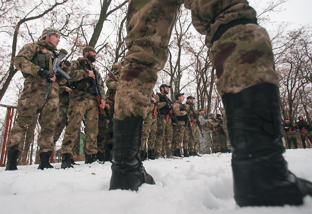 Чеченские боевики во Донбассе