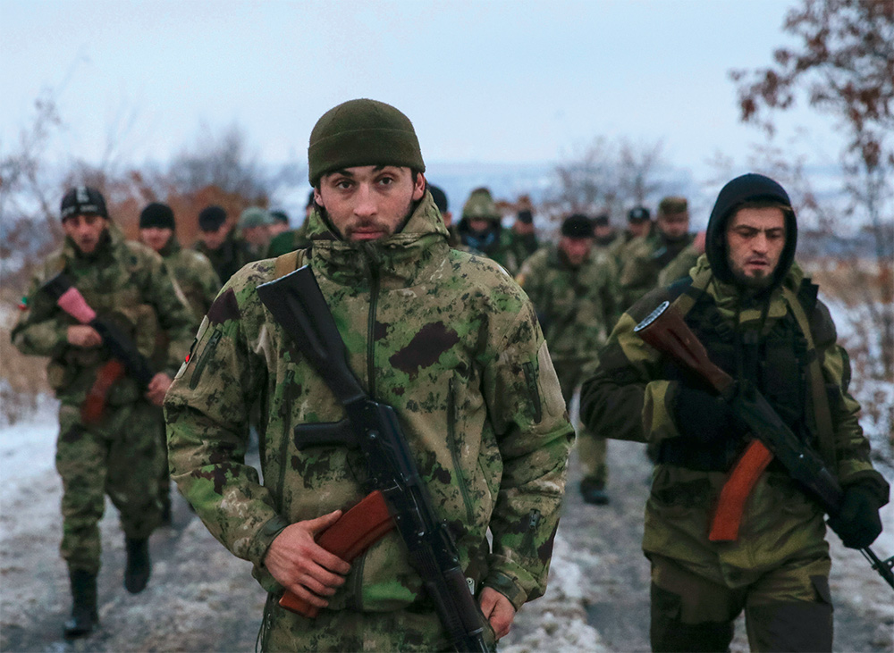 Чеченские боевики на Донбассе