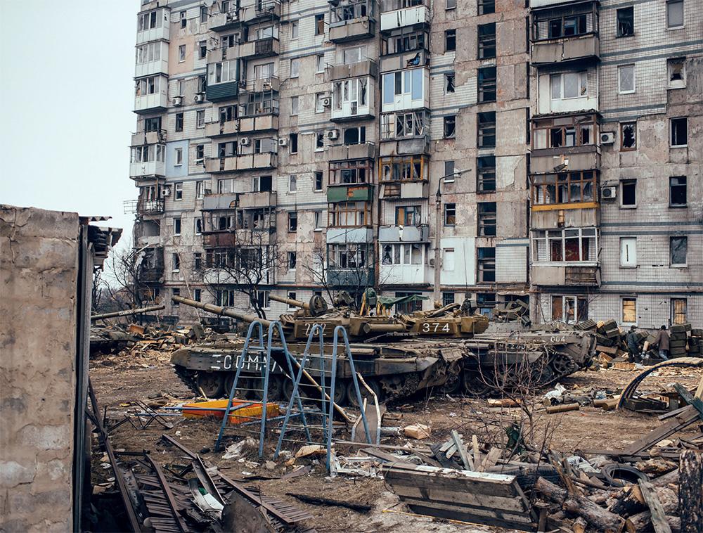 Октябрьский пояс Донецка впоследствии столкновений сепаратистов равным образом украинской армии